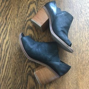 Aldo ankle open toe booties